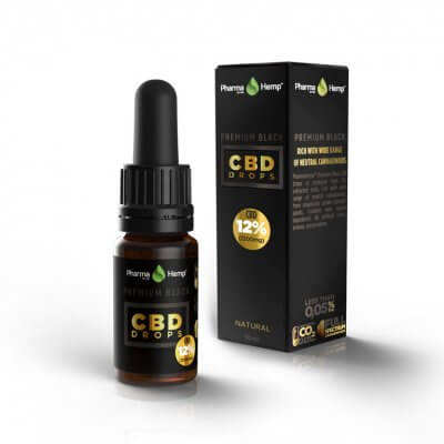 PREMIUM BLACK CBD DROPS 12% | 10ml