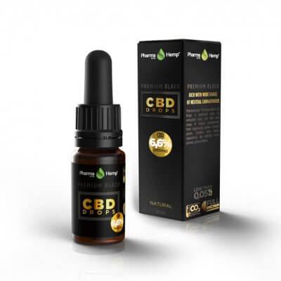 PREMIUM BLACK CBD DROPS 6,6% | 10ml