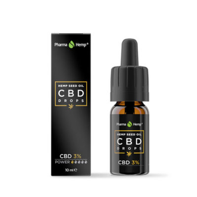 CBD DROPS HempSeed Oil 3%-15% PHARMAHEMP 10ml