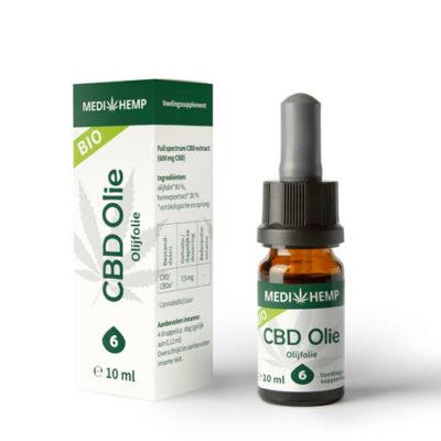 CBD Oil OliveOil Bio 6% MEDIHEMP 10ml
