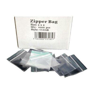 5 x Zipper Branded 2 x 2 Clear Bags