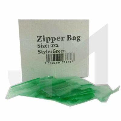 5 x Zipper Branded 2 x 2 Green Bags