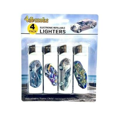 12 x 4Smoke 4 Pack Electronic Printed Lighters – DY007