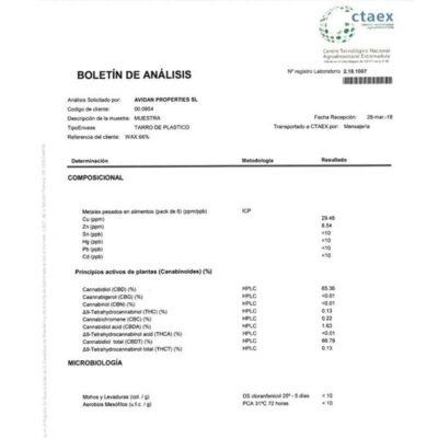 CBD Wax 1G Amnesia Haze 66%
