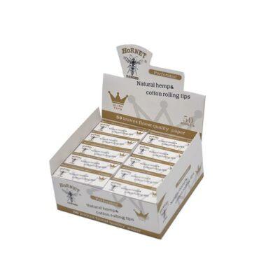 50 Hornet Natural Hemp Cotton Rolling Slim Tips