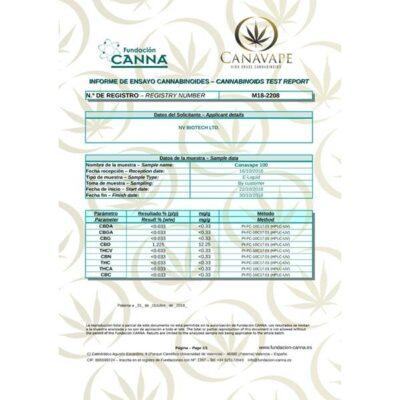 Canavape E-Liquid 100mg CBD + 10mg CBG 10ml