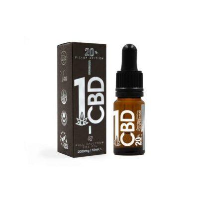 1CBD 20% Pure Hemp 1000mg CBD Oil Sliver Edition 5ml