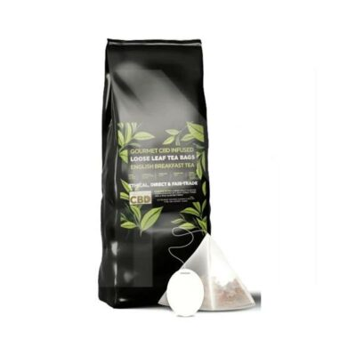 Equilibrium CBD Gourmet Loose Leaf Tea Bags – English Breakfast Tea