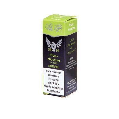 18mg City Vape Flavourless Nicotine Shot 10ml (50VG-50PG)