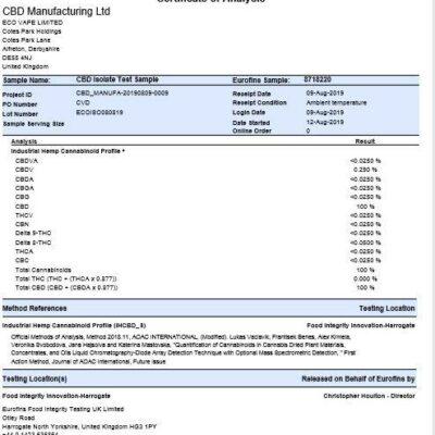 CBD Leafline 1000mg CBD Shatter (99.5%) Berry Lemonade 1g