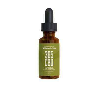365CBD Flavoured Tincture Oil 3000mg CBD 30ml – Natural