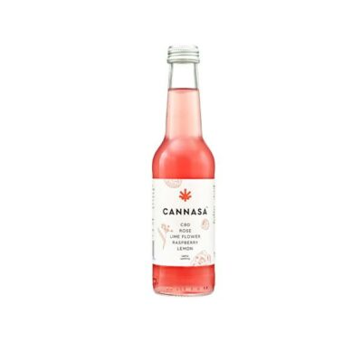 12 x Cannasa botanical 2.5mg CBD Infused Drink 275ml – Rose & Raspberry