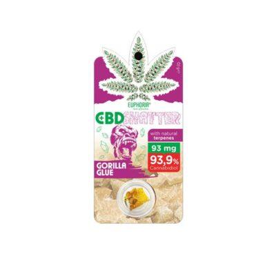 Euphoria 93mg CBD Shatter Gorilla Glue 0.1g