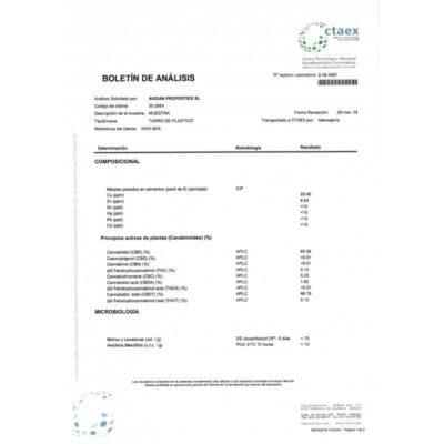 CBD Wax 0.5G Raspberry 66%