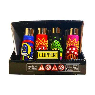 20 Clipper Large Rubber Pop Cover Lighter – Mushrooms
