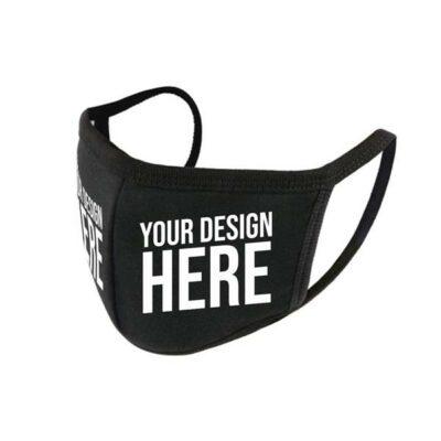 Custom Vinyl Printed Reusable Anti Dust Black Face Mask