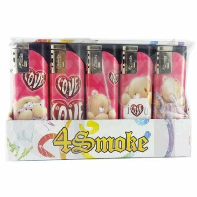 25 x 4Smoke Wind-Proof Printed Lighters – 218WE