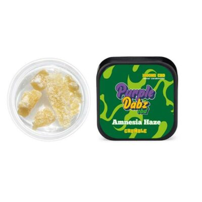 Purple Dabz by Purple Dank 1000mg CBD Crumble – Amnesia Haze