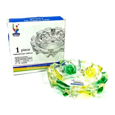 Qianli Natural Type Multi colour Glass Ash Tray – G1018