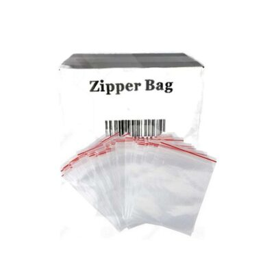 5 x Zipper Branded 100mm x 100mm Clear Bags