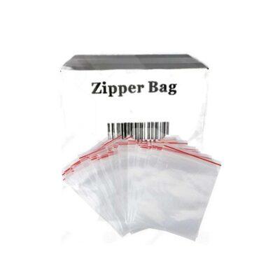 5 x Zipper Branded 25mm x 50mm Clear Bags