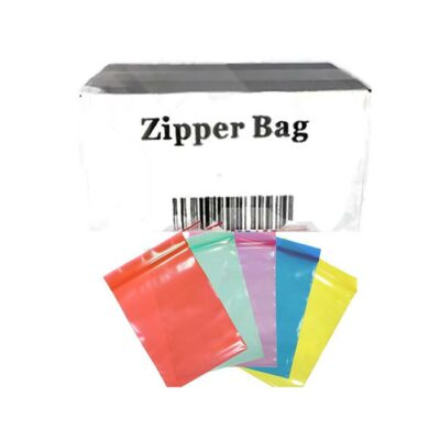5 x Zipper Branded  30mm x 30mm White Leaf Bags