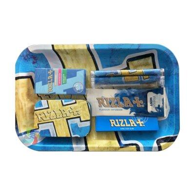 Rizla Small Metal Rolling Tray Gift Set