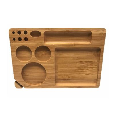 Medium Wooden Rolling Tray with Compartments – TRY-B230x155