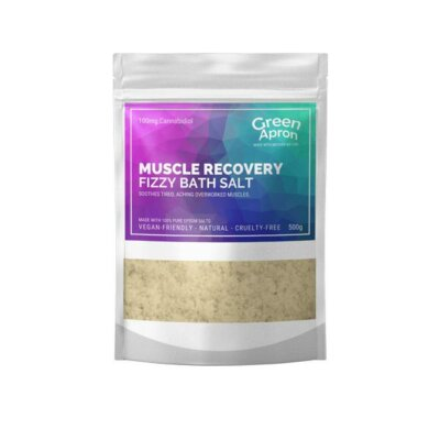 Green Apron 100mg CBD Muscle Recovery Bath Salts 500g