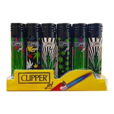 24 Clipper Refillable Jet Printed Leaf Lighters  – CKJ11R