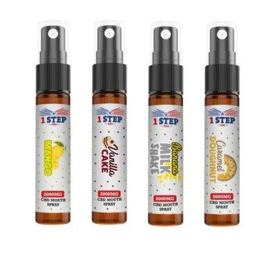 1 Step CBD 2000mg CBD Mouth Spray 10ml