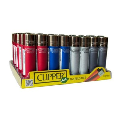 40 Clipper CP11R Refillable Large Classic Metallic 3 Lighters