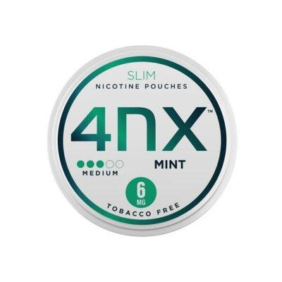 4NX 6mg Mint Slim Nicotine Pouches 20 Pouches