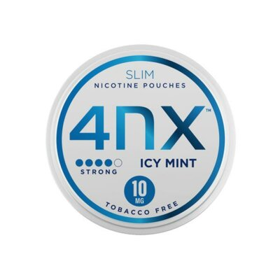 4NX 10mg Icy Mint Slim Nicotine Pouches 20 Pouches